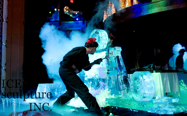 Live Ice Carving Demo