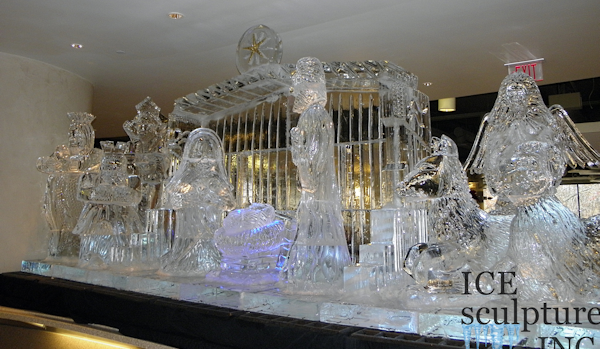 Nativity Ice Display
